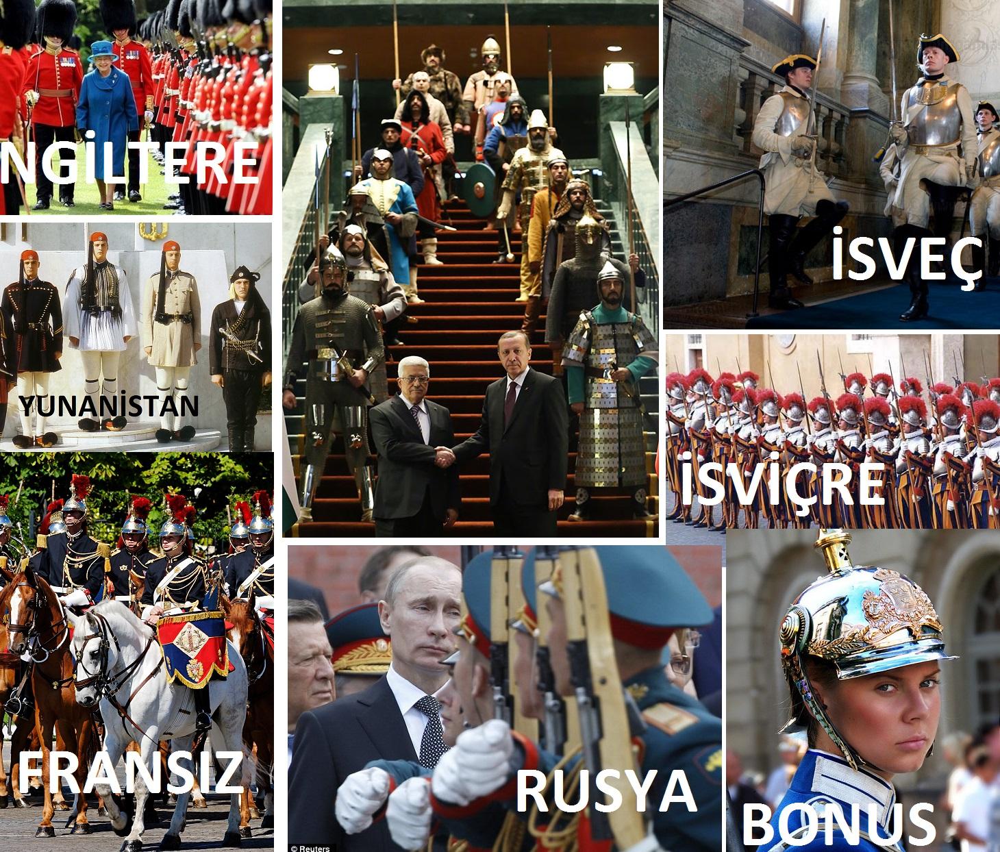 Bizdeki seremoni askerleri en çok öteki ülkelerdeki kadar komik olabilir